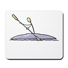 Stick figure kayak Mousepad