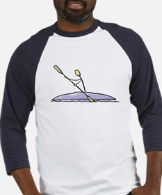 Stick figure kayak Baseball Jersey