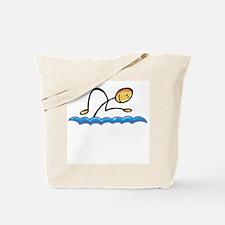 Stick figure swimmer Tote Bag