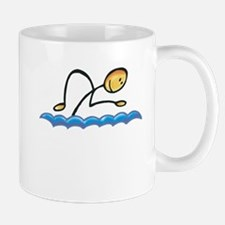 Stick figure swimmer Mug