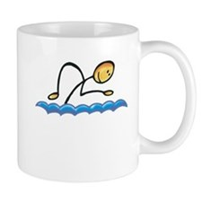 Stick figure swimmer Mug