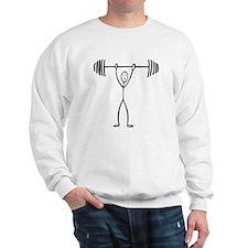 Stick figure weight lifter Sweatshirt
