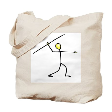 Stick figure javelin Tote Bag