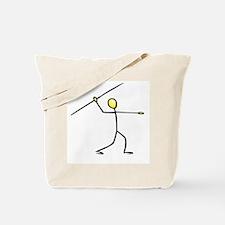 Stick figure javelin Tote Bag