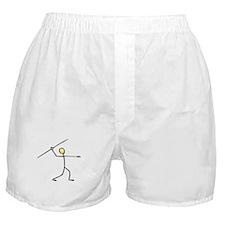 Stick figure javelin Boxer Shorts