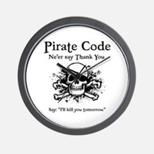 Pirate Thank You Wall Clock