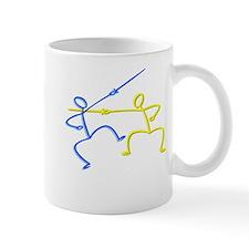 Stick figure fencing Mug