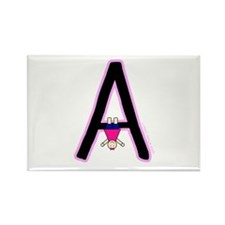 A (Girl) Rectangle Magnet