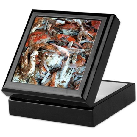 Blue Crabs Keepsake Box
