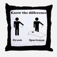 Drunk or Sportsman Throw Pillow