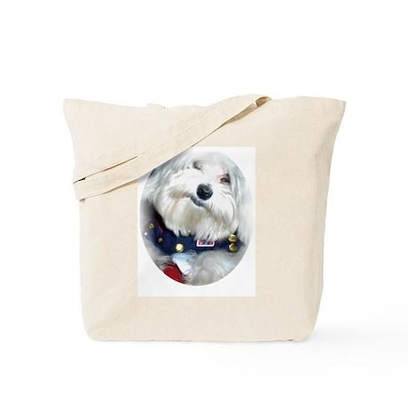 Patriotic Puppy Tote Bag
