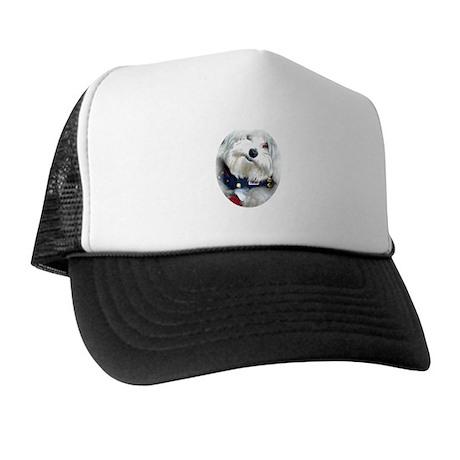 Patriotic Puppy Trucker Hat