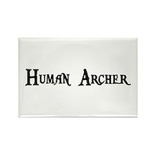 Human Archer Rectangle Magnet