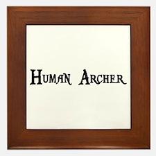 Human Archer Framed Tile