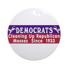 Democrats  Keepsake (Round)