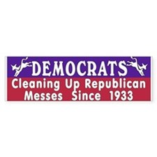 Democrats Bumper Car Sticker