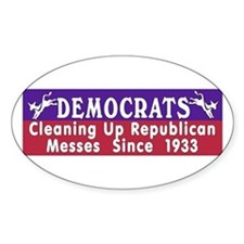 Democrats Oval Decal