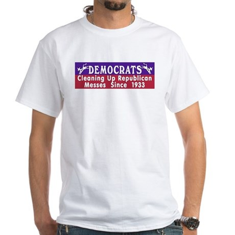 Democrats White T-Shirt