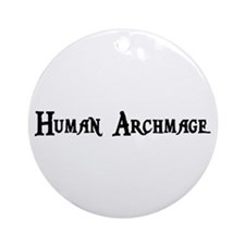 Human Archmage Ornament (Round)