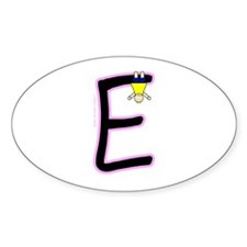 E (Girl) Oval Decal