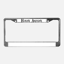 Human Artisan License Plate Frame