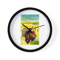Harvest Thanksgiving Wall Clock