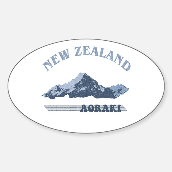 Aoraki New Zealand Vintage Oval Decal