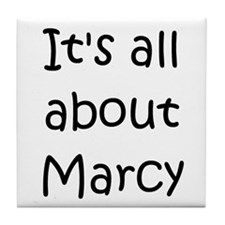 Funny Marcy Tile Coaster