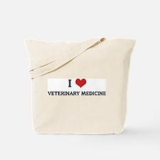 I Love Veterinary Medicine Tote Bag