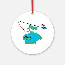 Pap's Fishing Buddy Ornament (Round)