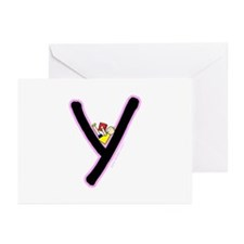 Y (Girl) Greeting Cards (Pk of 20)