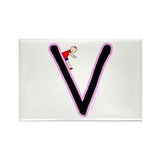 V (Girl) Rectangle Magnet