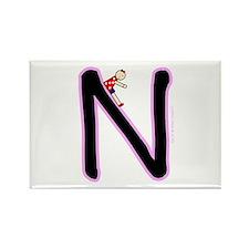 N (Girl) Rectangle Magnet