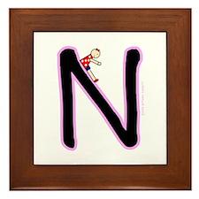 N (Girl) Framed Tile