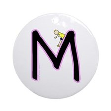 M (Girl) Ornament (Round)