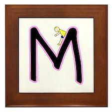 M (Girl) Framed Tile