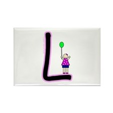 L (Girl) Rectangle Magnet