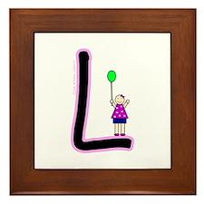L (Girl) Framed Tile