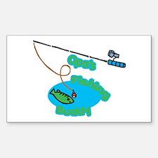 Opa's Fishing Buddy Rectangle Decal