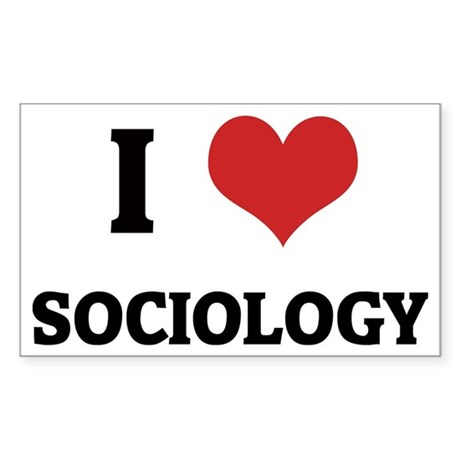 I Love Sociology Rectangle Sticker
