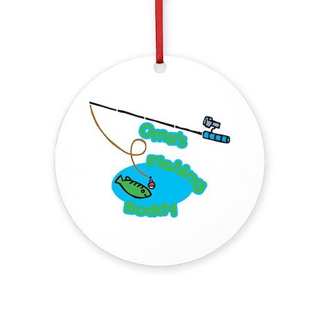 Oma's Fishing Buddy Ornament (Round)