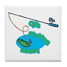 Oji's Fishing Buddy Tile Coaster