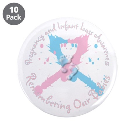 "Pregnancy and Infant Loss Awa 3.5"" Button (10 pack"