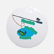 Nonnie's Fishing Buddy Ornament (Round)