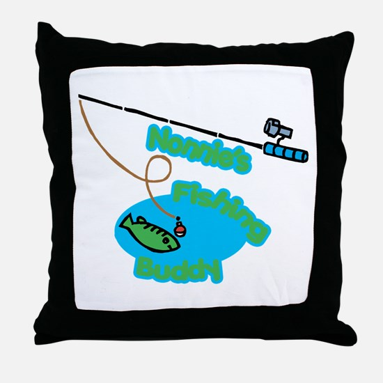 Nonnie's Fishing Buddy Throw Pillow