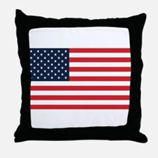 American Flag Stuff Throw Pillow