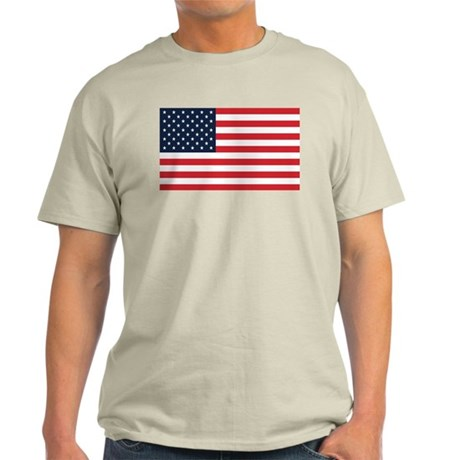 American Flag Stuff Ash Grey T-Shirt