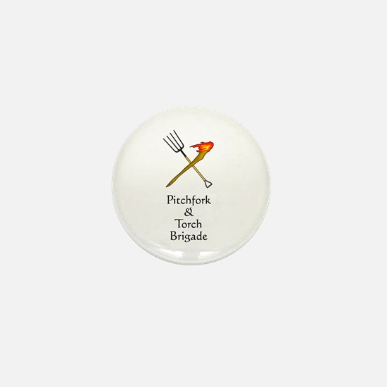 Pitchfork and Torch Mini Button