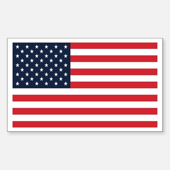 American Flag Stuff Rectangle Decal