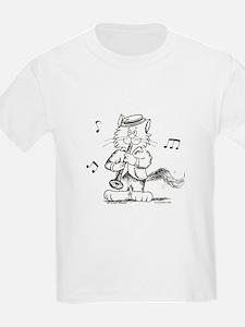 Catoons clarinet cat T-Shirt